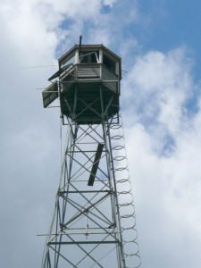 Close up of the Fire tower lookout