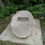 Turkey Lakes Watershed Study Memorial Plaque