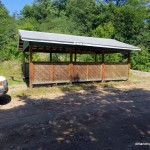 Parking at the picnic shelter