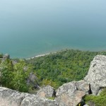 Looking down at Lake Superior from the `Knees` lookout