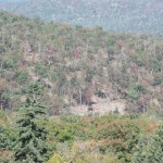 Zoomed view northwest to logging