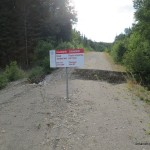 Road washed out on way to Millwood