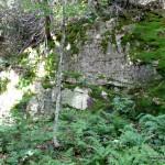 Small cliffs below the summit area