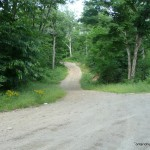Turn off from Tasso Lake Road onto the ATV path