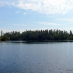 Encountering the first lake along the Ishpatina trail