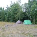 Gravel Pit Campsite by Gravel Lake