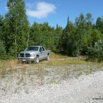 Parking along Domtar / Road to Witchdoctor Lake