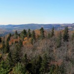 West panoramic of the Little White River Valley region