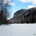 Snowshowing on the Agawa River
