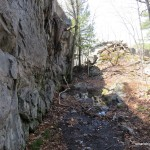 Trail along Rock Wall