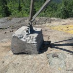 Fire tower concrete footing