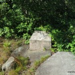 One of the Fire Tower foundation blocks