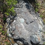 Geodetic survey marker on summit
