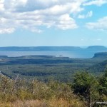 View SE towards Pie Island / Le Pate PP