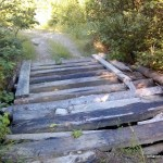 Old rickety bridge