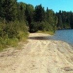 Washed out road at Cloven Lake