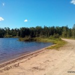 Beach on Cloven Lake
