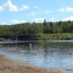 Swimming area at Kakabeka Falls Provincial Park