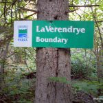 LaVerendrye Provincial Park Boundary Sign