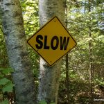 Slow sign - cautioning snowmobilers