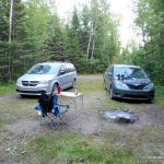 Our campsite at Whitefish Lake
