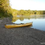 Canoe set to go on the shore of Basswood Lake