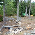 Our campsite on Louisa Lake
