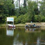 Canoeists departing Prairie Portage