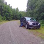 Roadside Parking Near the Sturgeon River