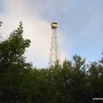 First peek of the Ellis Fire Tower on Ishpatina
